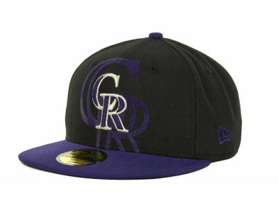 Colorado Rockies Over Flock 59FIFTY Cap Hats