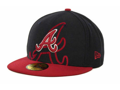 Atlanta Braves Over Flock 59FIFTY Cap Hats