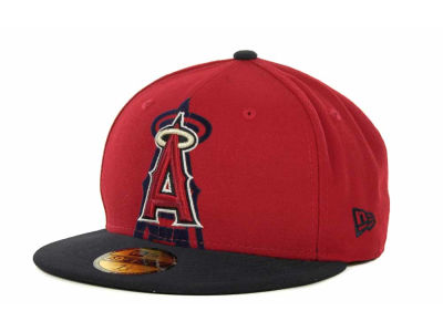Los Angeles Angels of Anaheim Over Flock 59FIFTY Cap Hats