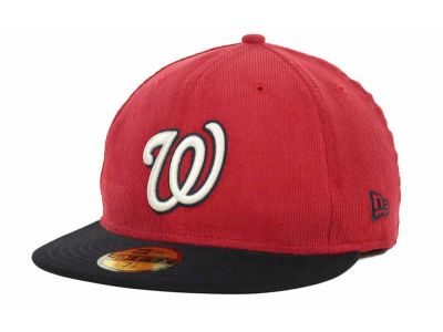 Washington Nationals MLB Team Cord 59FIFTY Cap Hats