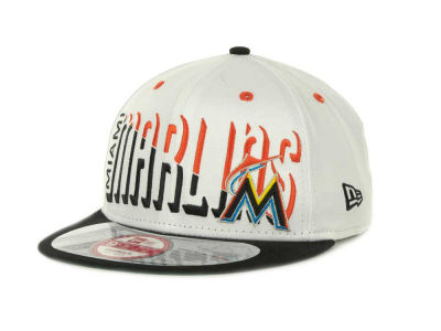 Miami Marlins Team Splitter Interchangeable Snapback 9FIFTY Cap Hats