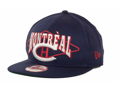 Montreal Canadiens NHL Geo Block Snap 9FIFTY Cap Hats