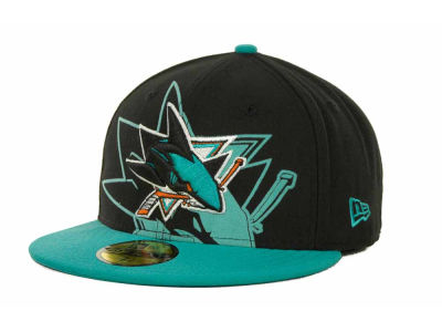 San Jose Sharks Over Flock 59FIFTY Cap Hats