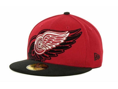 Detroit Red Wings Over Flock 59FIFTY Cap Hats
