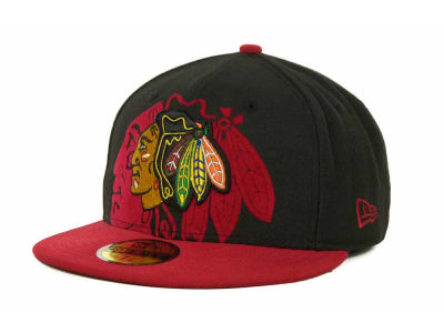 Chicago Blackhawks Over Flock 59FIFTY Cap Hats