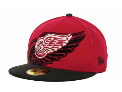 Detroit Red Wings NHL Kids Over Flock 59FIFTY Cap Hats