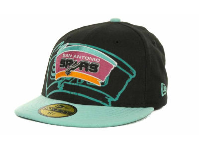 San Antonio Spurs NBA Kids Over Flock 59FIFTY Cap Hats