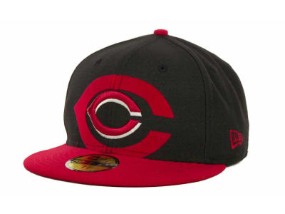 Cincinnati Reds MLB Kids Over Flock 59FIFTY Cap Hats