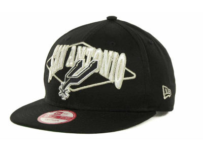San Antonio Spurs NBA Hardwood Classics Geo Block Snap 9FIFTY Cap Hats