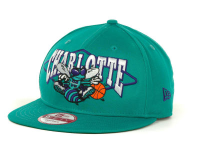 Charlotte Hornets NBA Hardwood Classics Geo Block Snap 9FIFTY Cap Hats