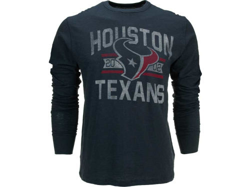 Houston Texans '47 Brand NFL Long Sleeve Establish Scrum T-Shirt
