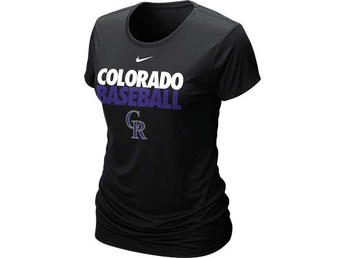 Colorado Rockies Nike MLB Womens Dri-Fit Cotton T-Shirt