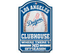 Los Angeles Dodgers Wincraft 11x17 Wood Sign Flags & Banners