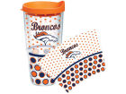 Denver Broncos Tervis Tumbler NFL 24oz. Polka Dot Tumbler With Lid Gameday & Tailgate