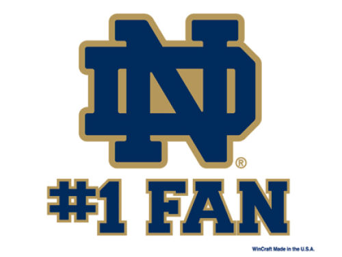 Notre Dame Fighting Irish Wincraft 3x4 Ultra Decal