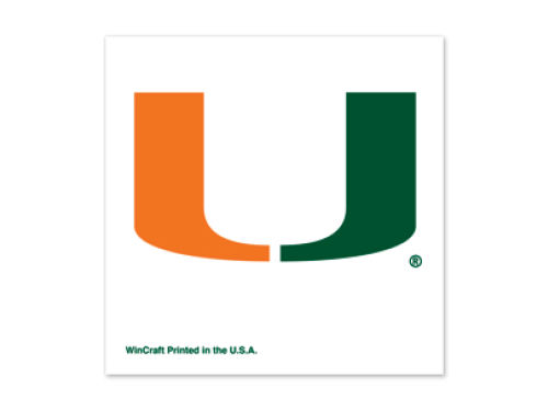 Miami Hurricanes Wincraft Tattoo 4 Pack