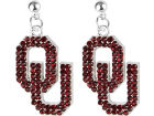 Oklahoma Sooners NCAA Rhinestone Earrings Jewelry