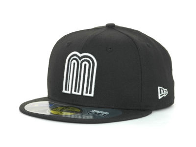 Mexico MLB 2013 World Baseball Classics Black White 59FIFTY Cap Hats