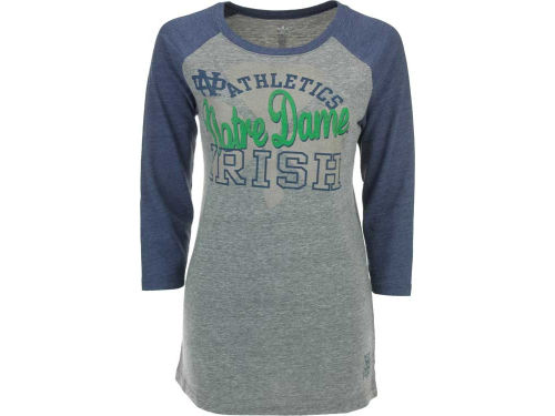 Notre Dame Fighting Irish adidas NCAA Womens Tilted 3/4 Raglan T-Shirt