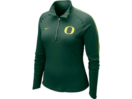 Oregon Ducks Nike NCAA Womens Dri-Fit Element Half Zip Top