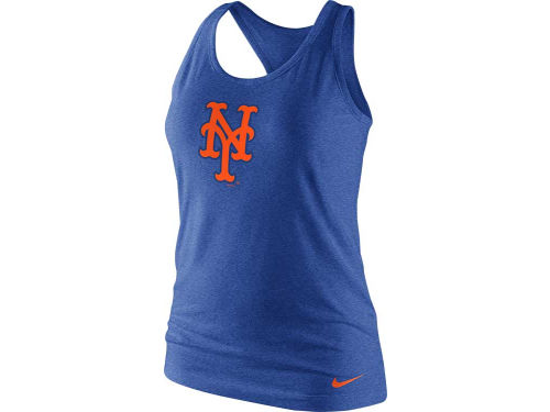 New York Mets Nike MLB Women's Tri-Blend Logo Tank