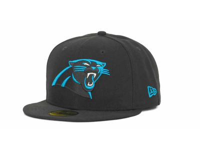 Carolina Panthers NFL Black Team 59FIFTY Cap Hats