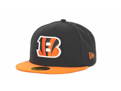 Cincinnati Bengals NFL Black Team 59FIFTY Cap Hats