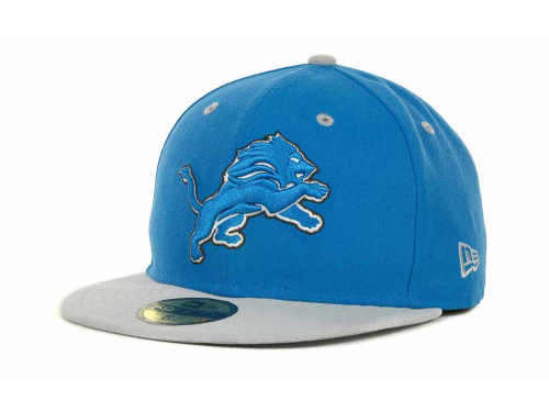 Detroit Lions New Era NFL 2 Tone 59FIFTY Cap Hats