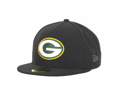 Green Bay Packers NFL Black Team 59FIFTY Cap Hats