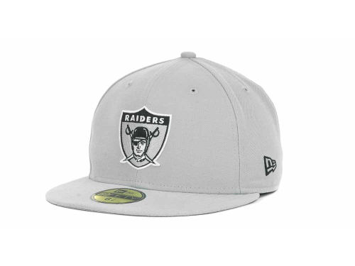 Oakland Raiders New Era NFL Historic Basic 59FIFTY Cap Hats