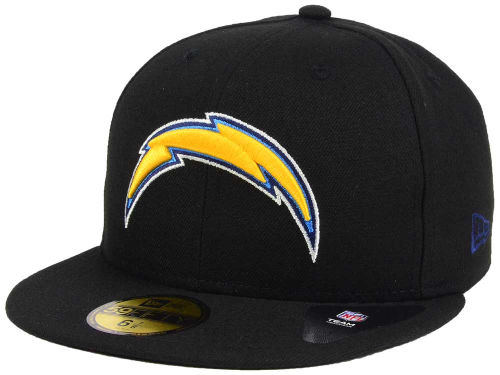 San Diego Chargers New Era NFL Black Team 59FIFTY Cap Hats