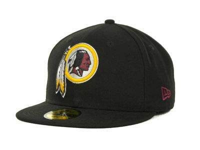 Washington Redskins NFL Black Team 59FIFTY Cap Hats