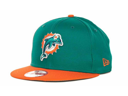 Miami Dolphins New Era NFL 2013 Logo Change 9FIFTY Cap Hats