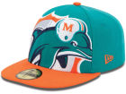 Miami Dolphins New Era NFL 2013 Logo Change Fitted 59FIFTY Cap Hats