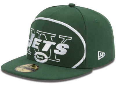 New York Jets NFL Enlarged Logo 59FIFTY Cap Hats