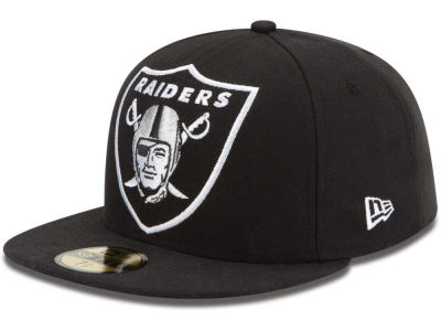 Oakland Raiders NFL Enlarged Logo 59FIFTY Cap Hats