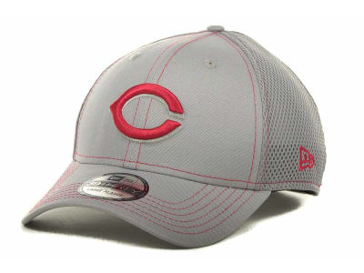 Cincinnati Reds MLB Gray Neo 39THIRTY Cap Hats