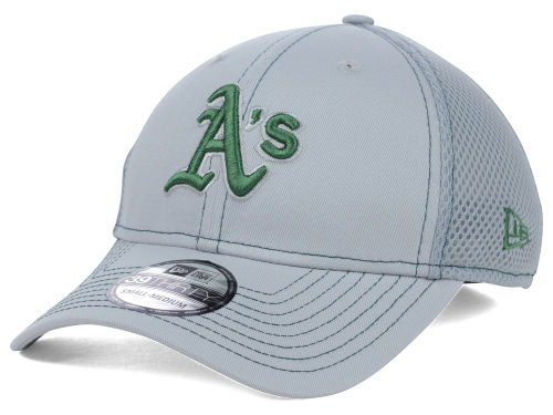 Oakland Athletics New Era MLB Gray Neo 39THIRTY Cap Hats