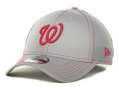 Washington Nationals MLB Gray Neo 39THIRTY Cap Hats