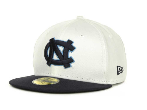 North Carolina Tar Heels New Era NCAA White 2 Tone 59FIFTY Hats