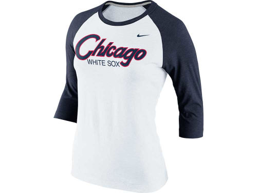 Chicago White Sox Nike MLB Womens CP 3/4 Raglan T-Shirt