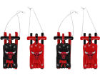Chicago Bulls Resin Sleigh Ornament Set of 4 Holiday