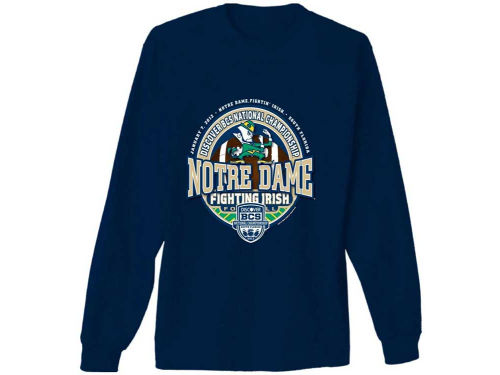 Notre Dame Fighting Irish NCAA 2013 BCS Bound Circle Seal Long Sleeve T-Shirt