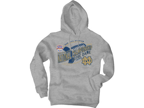 Notre Dame Fighting Irish Blue 84 NCAA 2013 BCS Bound Fried Hoodie