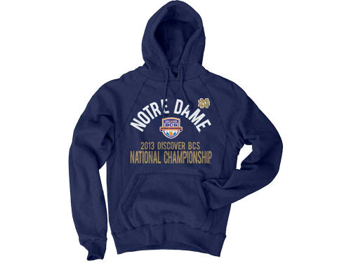 Notre Dame Fighting Irish Blue 84 NCAA 2013 BCS Bound Twill Hoodie
