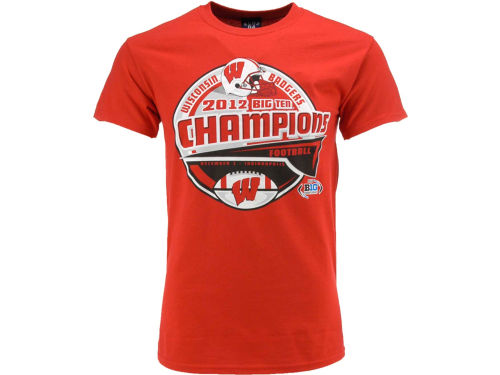 Wisconsin Badgers Blue 84 NCAA 2012 BIG10 Champ LR T-Shirt