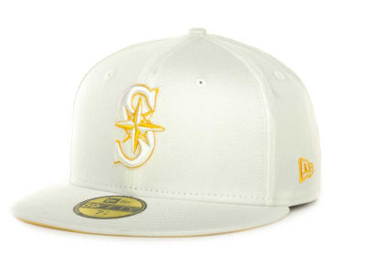 Seattle Mariners MLB White On Color 59FIFTY Cap Hats