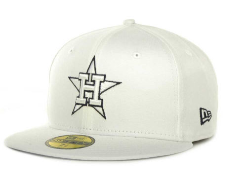 Houston Astros New Era MLB White On Color 59FIFTY Cap Hats