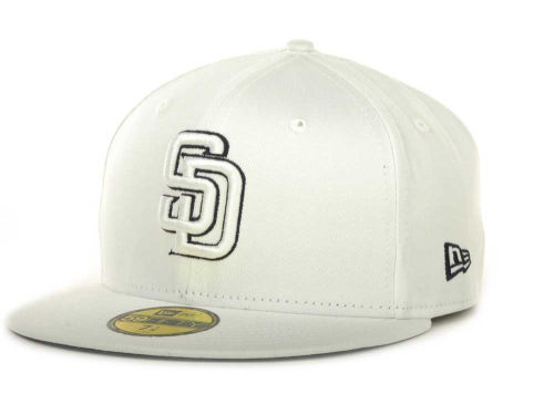 San Diego Padres New Era MLB White On Color 59FIFTY Cap Hats
