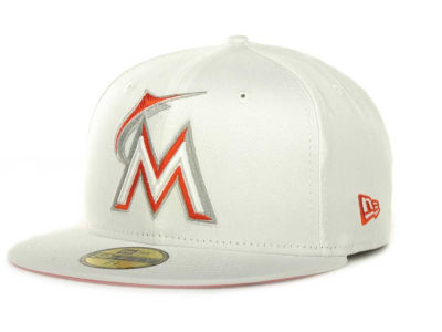 Miami Marlins MLB White On Color 59FIFTY Cap Hats